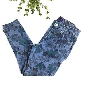 NYDJ Floral Skinny Blue Not Your Daughters Jeans 2